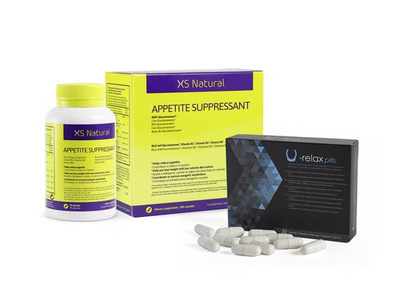 1 XS Natural appetite suppressant + 1 U-Body Relax pills