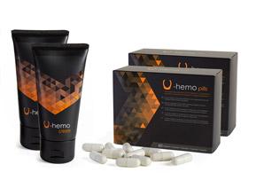 2 U-Body Hemo pills + 2 U-Body Hemo cream