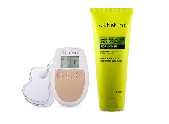 1 U-Tonic Device + 1 Xsnatural Firming & Anti-Sagging Cream for Woman (VERDE)